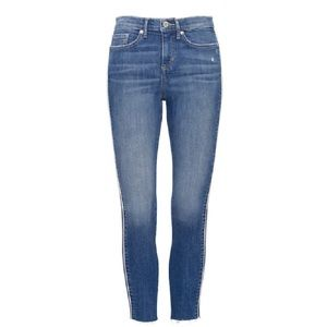 Banana Republic Mid-Rise Skinny Side-Stripe Jeans